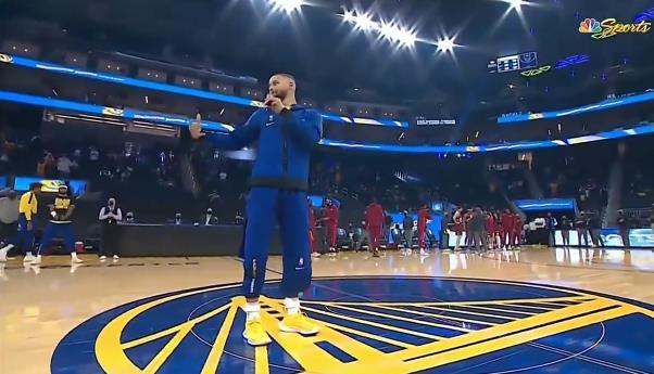 都回來了!Curry代表勇士歡迎球迷來到大通中心!