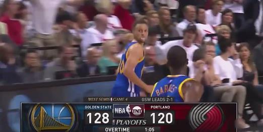 2016年西區半決賽,Curry後補復出延長賽獨得17分,什麼水平?