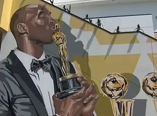 你依然是那個最帥的男人!從壁畫也能看出Kobe對籃球的熱愛