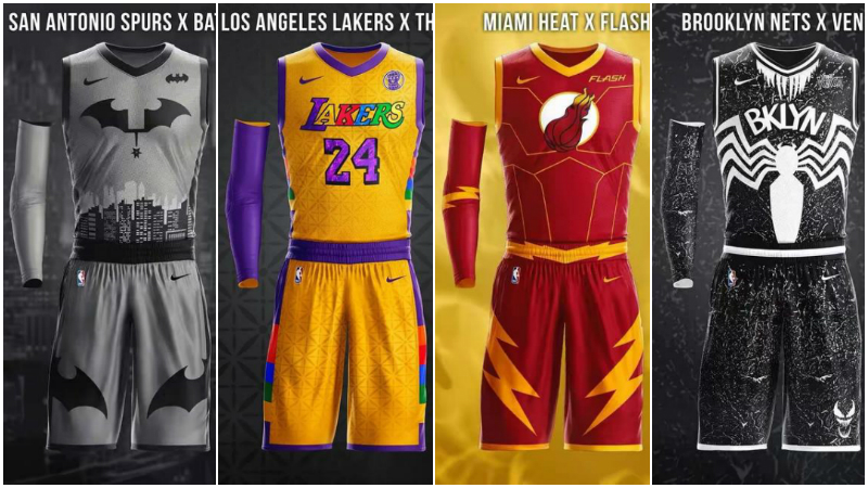 當NBA球衣變成「超級英雄」版:湖人薩諾斯太酷,熱火配色天衣無縫!