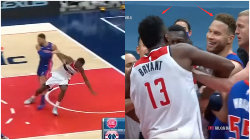 【影片】有點過分了啊!幹籃哥抱摔Bryant後,還一臉笑容挑衅对手,讓其暴怒!