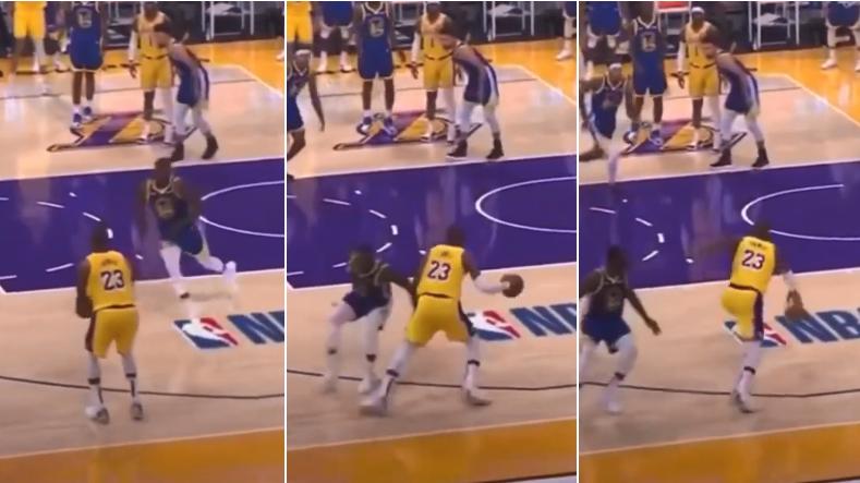 【影片】詹姆斯賽後重看錄像,不滿裁判雙標吹罰:同樣的動作,吹我走步但不吹格林?-黑特籃球-NBA新聞影音圖片分享社區