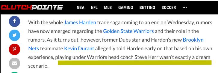 你可不能去勇士!杜蘭特曾勸說哈登不要聯手柯瑞,甚至還不惜連拉帶「踩」前東家!-黑特籃球-NBA新聞影音圖片分享社區