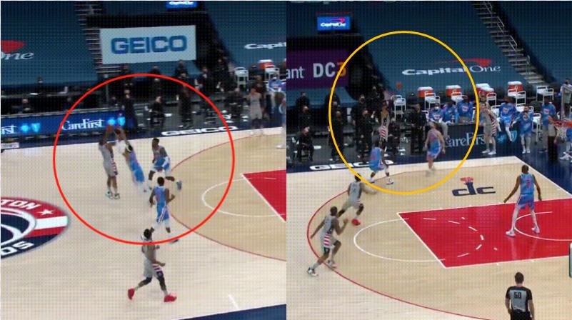 【影片】8秒拿6分?Beal飆中三分後,Matthews抄截杜蘭特助攻威少,後者三分穩穩命中!