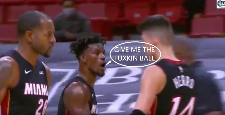 【影片】巴特勒打停黃蜂,並向隊友們怒吼:把球TMD傳給我!